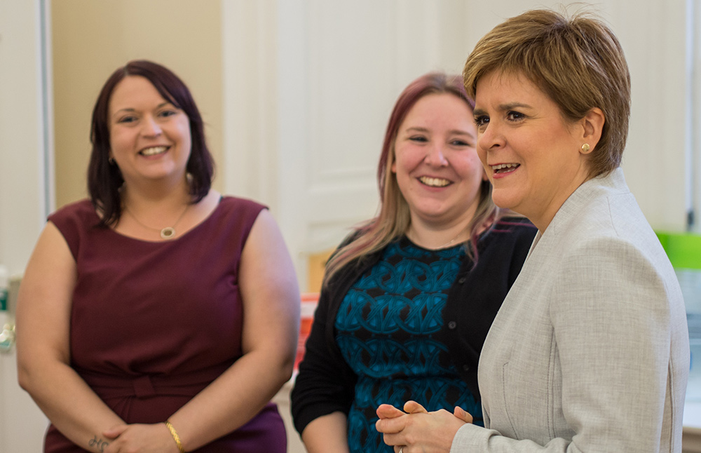 Nicola Sturgeon talks with CompanyNet staff